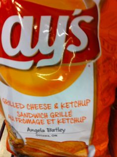 Lays chips Grilled Cheese & Ketchup Only in Canada