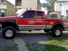 My 95 Chevy Silverado K1500 W My New Wheels Chevy