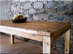 Egyedi fa asztal, natúr fa bútor