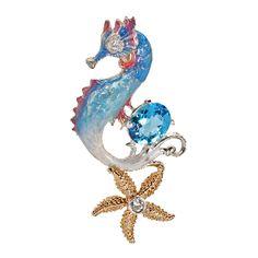 blue topaz seahorse pendant.