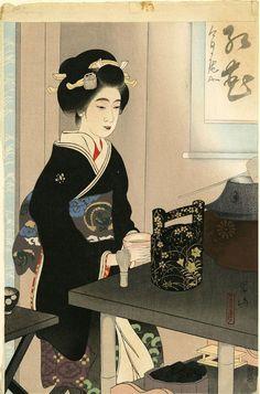 Miki Suizan (1887-1957) Presenting Tea at the Miyako Festival (Miyako-odori no tencha)