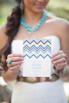Items similar to Southwestern Chevron Wedding Set - Wedding Invitation Set - Printable - Invitation, Response Card, Wedding Reception - Ombre Chevron on Etsy
