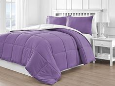 P&R Bedding Reversible Down Alternative 3-Piece Comforter Set, Variety of Colors (Queen, White/Purple) P&R Bedding http://www.amazon.com/dp/B015YN6PNI/ref=cm_sw_r_pi_dp_MxpVwb10RYKJC