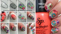 Tutorial Tuesday: Double Stamping Floral Decals with the ÜberChic Über Mat - Adventures In Acetone