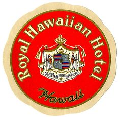 Royal Hawaiian luggage tag, Art of the Luggage Label