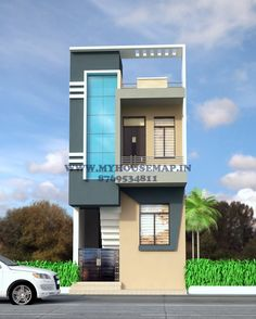New House Front Door Design House Front Wall Design, Brick House Designs, Single Floor House Design, Narrow House Designs, Modern Small House Design, Front Porch Design, House Front Door, Bungalow House Design, Model House Plan