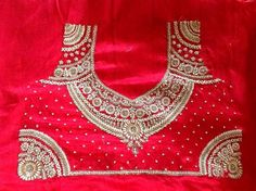 Sparkling Fashion: Blouse back neck designs,Sstone work on blouse, Embroidery blouses Best Embroidery Machine, Embroidery Works, Hand Embroidery Designs, Embroidery Patterns, Embroidery Blouses, Aari Embroidery, Blouse Patterns, Embroidery Stitches, Kids Blouse Designs