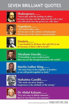Seven Brilliant Quotes maybe 6!