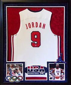 d6221bdd815 Michael Jordan Framed Olympic Jersey Signed UDA UpperDeck COA Autographed  Chicago Bulls