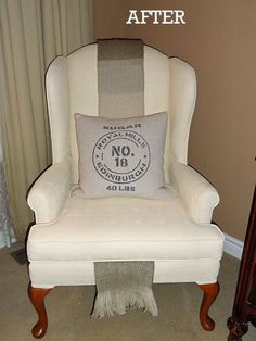DIY Painted Upholstered Chair-do I dare?