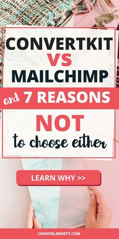 ConvertKit vs Mailchimp - both are popular email service providers. But here are 7 reasons you shouldn't choose either!