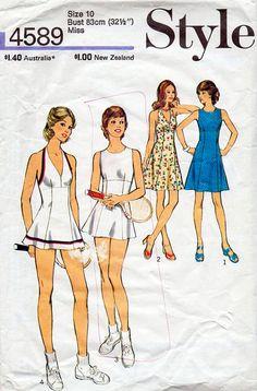 1970s Halter Dress or Tennis Dress Vintage by BessieAndMaive, $8.00