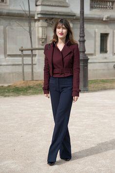 Natalie Dumeix trousers Mugler jacket and an Isobel Marant bag, Paris 15'