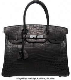 Luxury Accessories:Bags, Hermes Matte Black Porosus Crocodile Birkin Bag with PalladiumHardware. H Square, Condi. Hermes Bags, Hermes Handbags, Hermes Birkin, Luxury Handbags, Purses And Handbags, Designer Bags Online, Designer Handbags, Gucci Logo, Logo Signature
