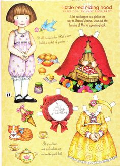 The Paper Collector: Mary Engelbreit Little Red Riding Hood, Funky Paperdolls, Printable Paper Doll Patterns, Paper Dolls, Paper, Kids Activities Printables, Cool teen crafts