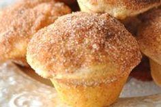 Low calorie donut muffins - going to try these and sub sugar splenda mix and applesauce instead of butter