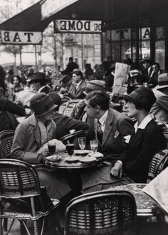 André Kertész, My Friends at Cafe du Dome, 1928