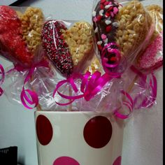 My Valentines Chocolate Dipped Rice Crispy Treats :)
