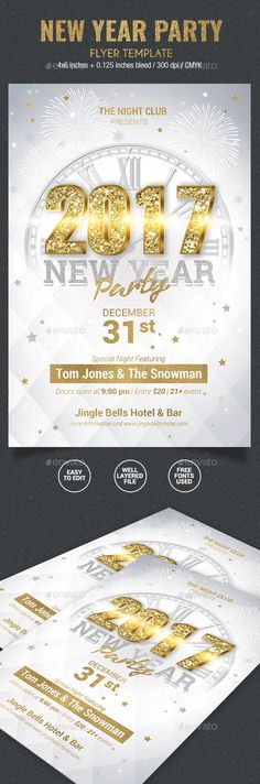 219 best New Year Party Flyer Templates images on Pinterest in 2018 ...