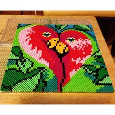 Love Birds perler beads by mky_poimaster1997 - Pattern: https://de.pinterest.com/pin/374291419010581150/