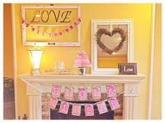 Cute Valentine's day decorations.