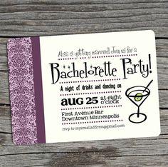 DIY Printable - Bachelorette Party Invitation