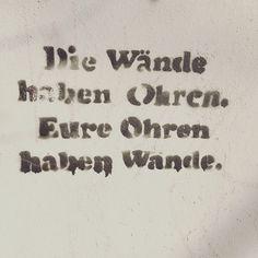 ...eure Ohren haben Wände.  #Streetart #berlin