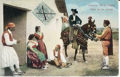 Visita de los novios. En la huerta de Valencia,  1912 Portugal, Painting, Cultural Identity, Brunettes, Antigua, Black And White, Paintings, Vegetable Garden, Painting Art