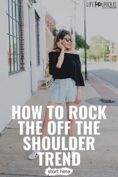 Click here to learn how to rock the off the shoulder trend on Life Lutzurious! Super cute off the shoulder top outfit fall casual. Very stylish off the shoulder dress casual boho style. Best off the shoulder top outfit fall sweaters. Learn to style off the shoulder dress formal short. Amazing black off shoulder dress outfit casual. Elegant black off the shoulder top outfit fall. Casual chic fall outfits street style. Fall outfits women 30s casual curvy. #trend #fashion #ootd