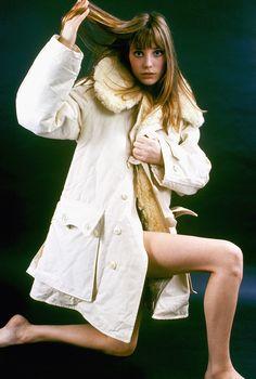 Portrait of Jane Birkin, taken in the Sixties.