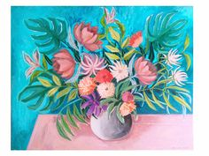 Floral Painting Canvas Flowers Artwork direct from artist