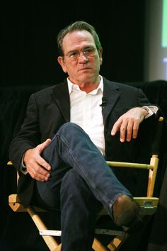 Tommy Lee Jones ;) he did open the door for me once and gave me the once over lol - my little brush with fame :o