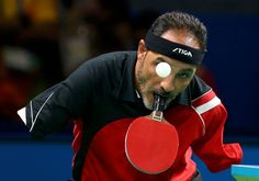 Rio, Brazil  Ibrahim Hamadtou of Egypt competes in the Men's Singles table tennis at the 2016 Paralympics