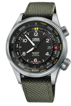 The Oris Big Crown ProPilot Alitimeter is the perfect aviation watch for gifting.