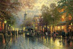 Evening on the Avenue, Charleston by Thomas Kinkade