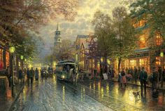 Evening on the Avenue, Charleston by Thomas Kinkade