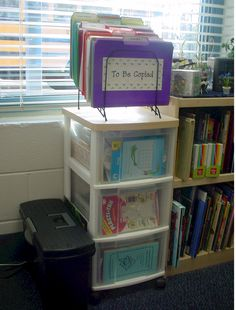 This summer I am doing this...she takes you step by step organizing your classroom (starts with materials needed to do so... great site)