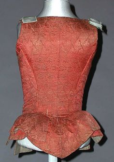 Bodice Date: century Culture: European Medium: silk. 18th Century Dress, 18th Century Fashion, Historical Costume, Historical Clothing, Corset, Vintage Underwear, Renaissance Fashion, Clothing And Textile, Period Outfit