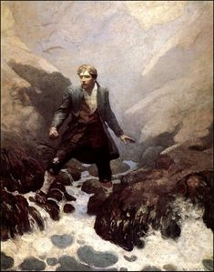 N.C. Wyeth. Treasure Island.  Wyeth would have been a great movie maker.