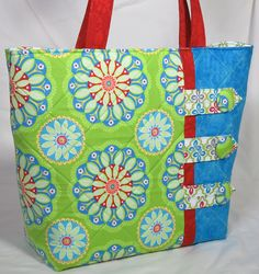 Fun Flower Tote by carriedawaywithjill on Etsy