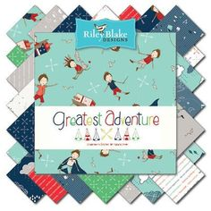 Greatest Adventure 10 inch Stacker Riley Blake by MaybirdFabrics