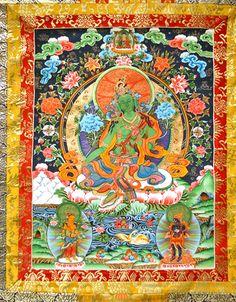 Green Tara-tangka
