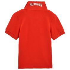 Chicos Camisa de polo Liso - Cotton pique polo, Amapola back