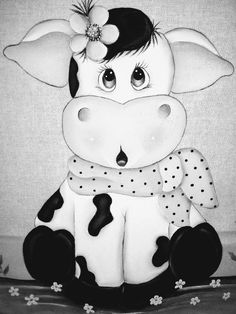 Farm Crafts, Rock Crafts, Disney Drawings, Art Drawings, Cow Ornaments, Chicken Painting, Halloween Drawings, Cute Cows, Cow Art