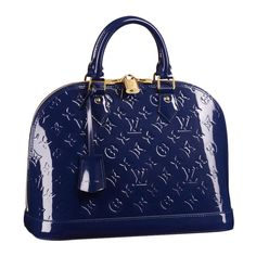 Alma PM [Model: M90053 Color: Grand Bleu Material: Monogram Vernis Size: 12.6x 9.4 x 5.9 inches ] - $235.99 : Louis Vuitton Handbags,Louis Vuitton Bags,Cheap Louis Vuitton