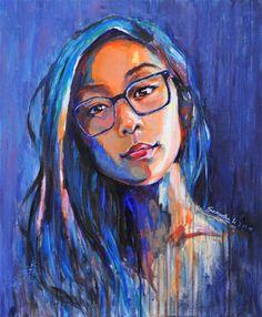 Paintings self portrait, Samantha Li