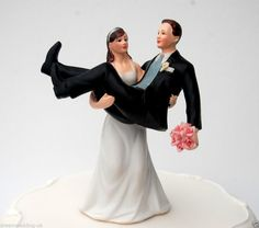 """""""TO HAVE AND TO HOLD"""" Bride  Groom Funny Couple Wedding Cake Topper/Craft/NEW"""