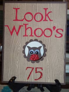 75th Birthday Owl Window by palmerbv - Cards and Paper Crafts at Splitcoaststampers