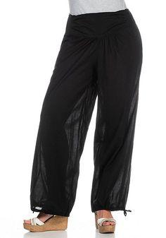 sheego Casual Modische Damenhose - schwarz   Damenmode online kaufen