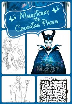 Free Maleficent Coloring Pages ~ Farmer's Wife Rambles